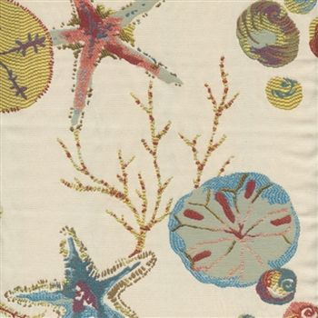 Coastal Colors And Sand Dollars Mix In This Charming Futon Cover