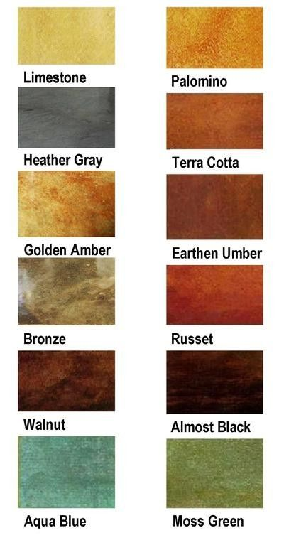 Stained Concrete Floors, color choices for the kitchen. What a great way to add some fun color, never thought of putting it on the floor!