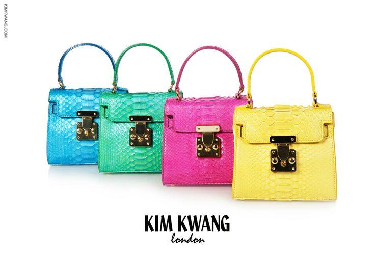 KIM KWANG Handbag   Genuine Python.