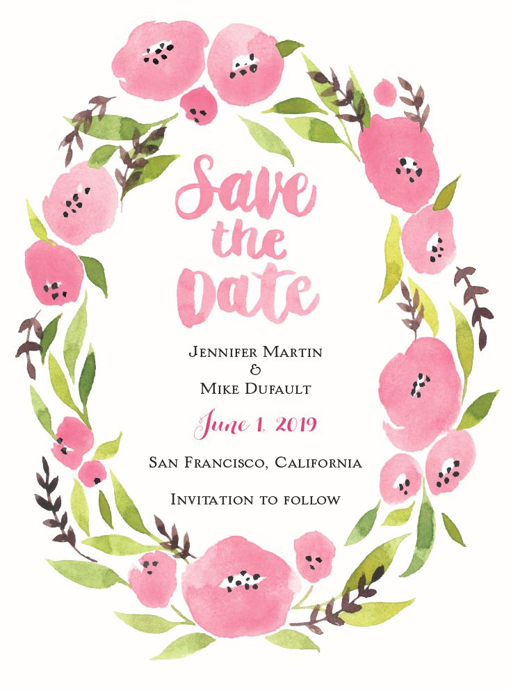 fetching free at home date ideas. Floral Halo  Save the Date Card 81 best Affordable The Dates images on Pinterest