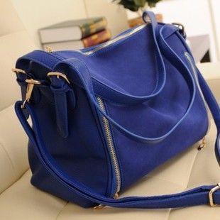 Nuevo bolso De Envío libre 2013 del bolso de moda retro de cuero mate de colores azul marino Hombro Golpeo el Paquete diagonal de color de