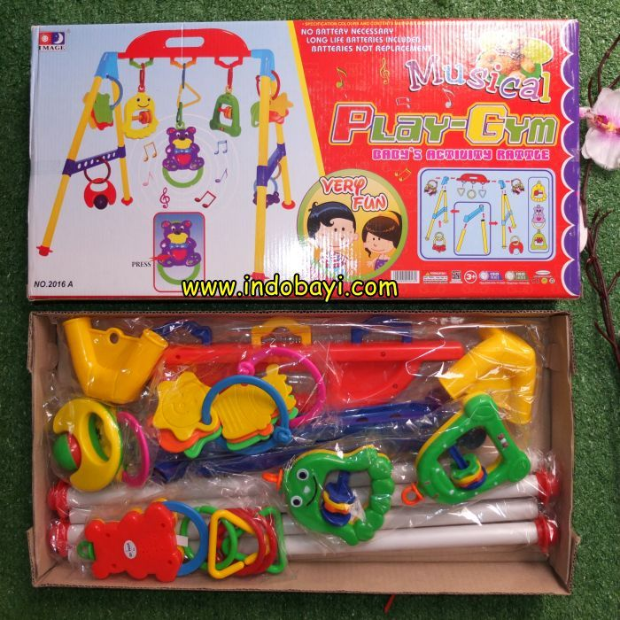 Musical playgim baby activity rattle Indobayi Mainan