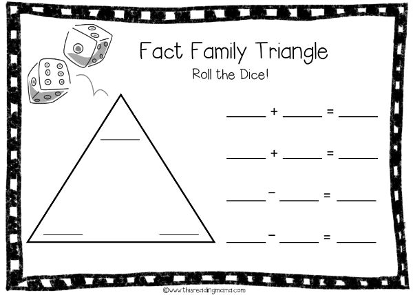 Subtraction Worksheets fact families addition and subtraction – Fact Family Addition and Subtraction Worksheets