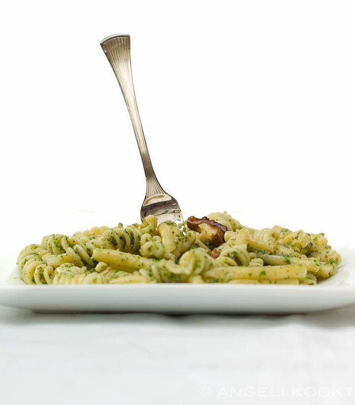 Pasta met walnotenpesto