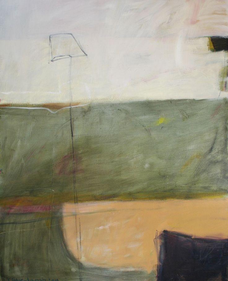 "Chloe Lamb -  ""Amble September"",  2015,  Oil on canvas,  59 7/8 x 48 1/8 in/152.1 x 122.2 cms"