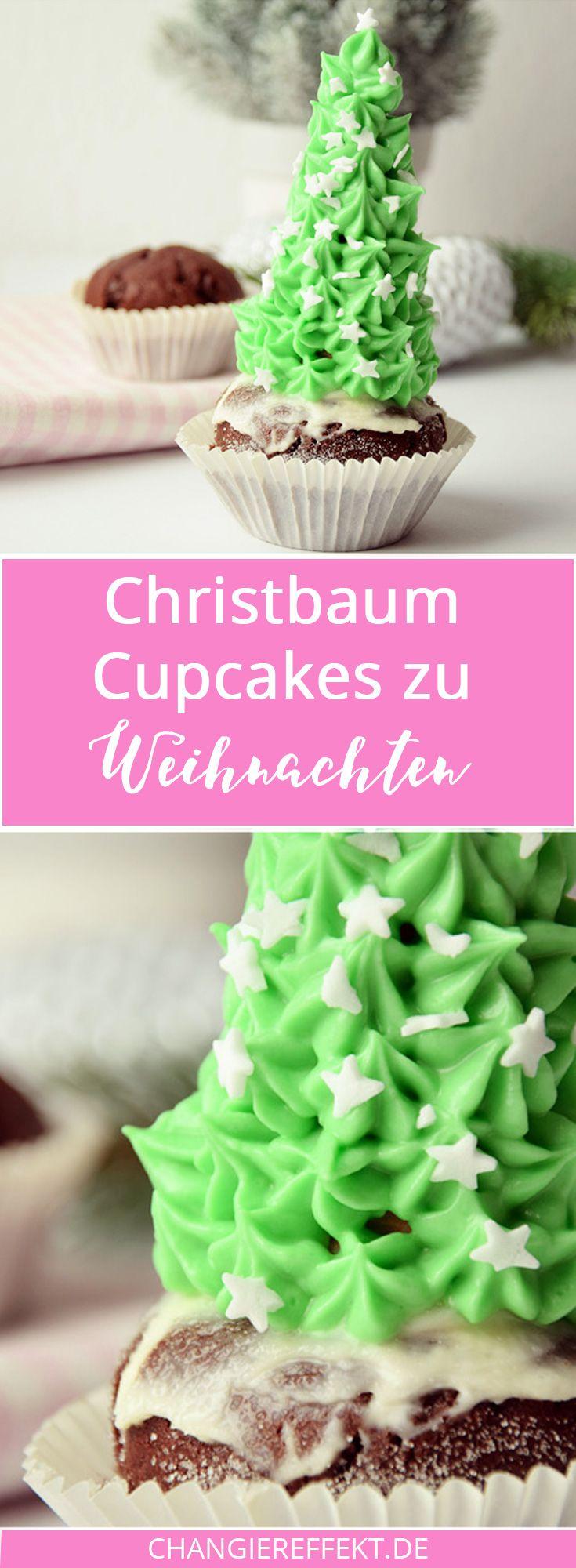 Weihnachtsbaum auf einem Cupcake? Geht ganz einfach! In meinem Rezept verrate ich dir, wie ich diesen hohen Christbaum Cupcake gemacht habe.