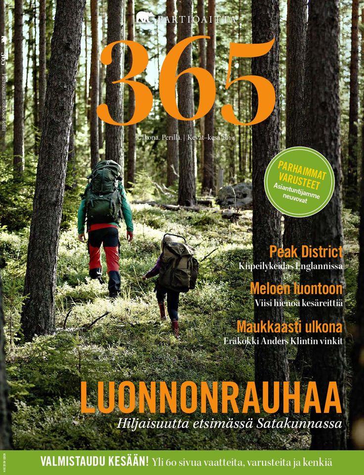 Partioaitta 365 #1 2014  365 on Partioaitan julkaisema outdoor-lehti. Ammattilaisten tuottaman toimituksellisen osion lisäksi se pitää sisällään laajan katsauksen tuotevalikoimaamme. 365:n artikkelit käsittelevät ulkoilua, elämyksiä ja luontoa. Lisäksi lehti tarjoaa osaavien retkeilijöiden ja erikoiskaupan ammattilaisten antamia hyviä vinkkejä muun muassa vaatteiden valintaan, jalkineiden hoitoon ja ulkoiluvarusteiden hankintaan.
