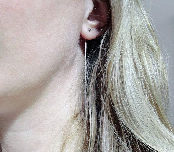 zilveren doorsteek oorbellen venetiaans met door miekedebeensieraden