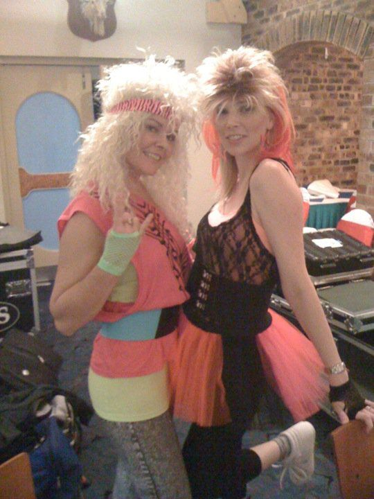 Fluro, tulle, skirts over leggings, god awful perm and a mullet. yep, that's 80s Backstage Electric 80s Show