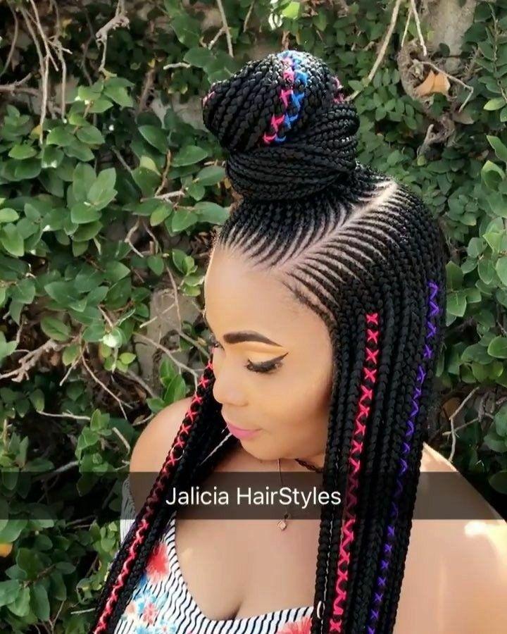 Stunningly Cute Ghanaian Braids Styles For 2019 Wedding Digest Naija Blog Braided Hairstyles Box Braids Hairstyles African Braids Hairstyles