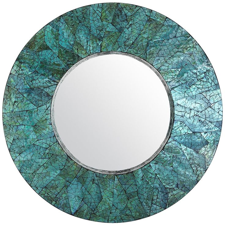 Green Mother Of Pearl 32 Quot Round Mirror For The Home