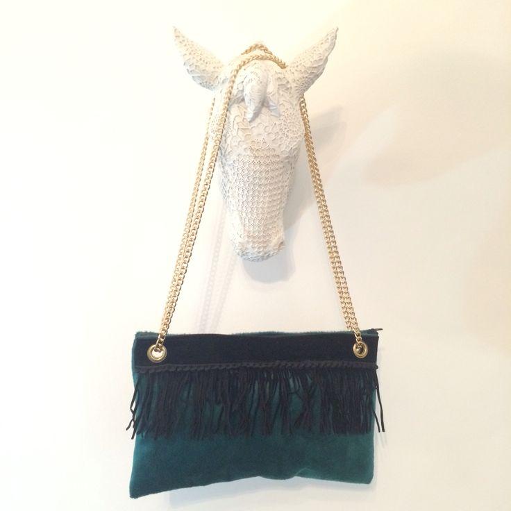 New My creations #pochette #green #velvet by IDDI made in #sicily