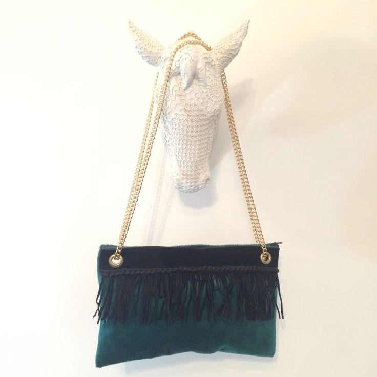 New My creations #pochette #green #velvet by IDDI made in #sicily