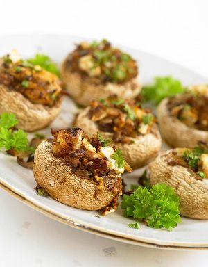 Fylte sjampingjonger kan serveres sammen med andre småretter eller som en forrett.