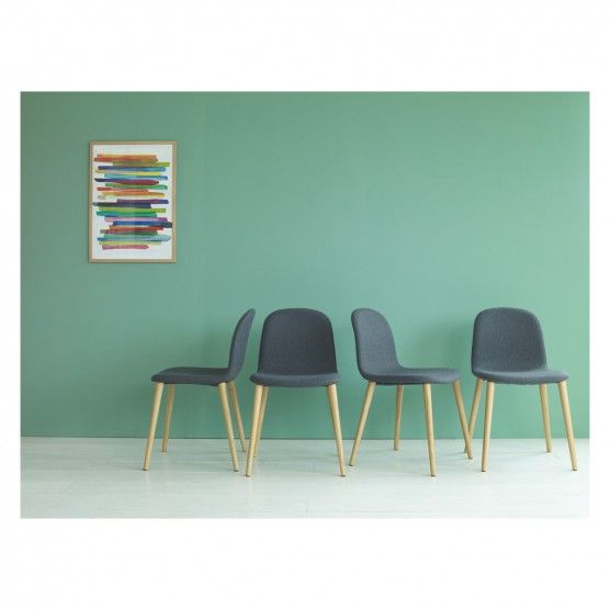 BACCO Set of 4 grey upholstered dining chairs   Buy now at Habitat UK