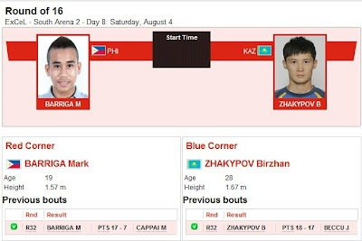 OLYMPICS 2012: Mark Barriga (Philippines) vs Kazakhstan Boxing Live Streaming | Philippine TV Ratings