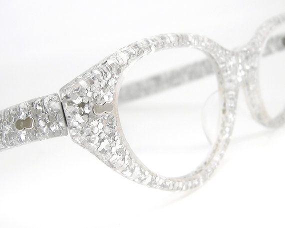 Vintage Sparkle 1950s Cat Eye Eyeglasses Sunglasses Frame
