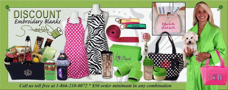 DEB Essentials - Wholesale Embroidery Blanks.  Items to purchase for retail to embroidery and sell