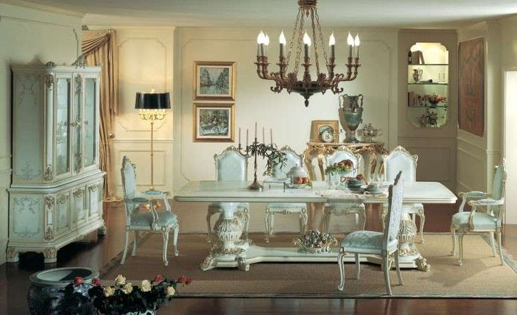Sala da pranzo stile veneziano - Sala da pranzo nelle nuances pastello