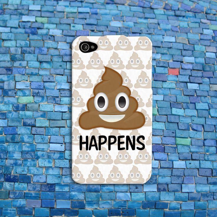 Super Funny Phone Case Poop Emoji Quote Cute Cover iPhone 4 4s 5 5s 5c 6 Plus +