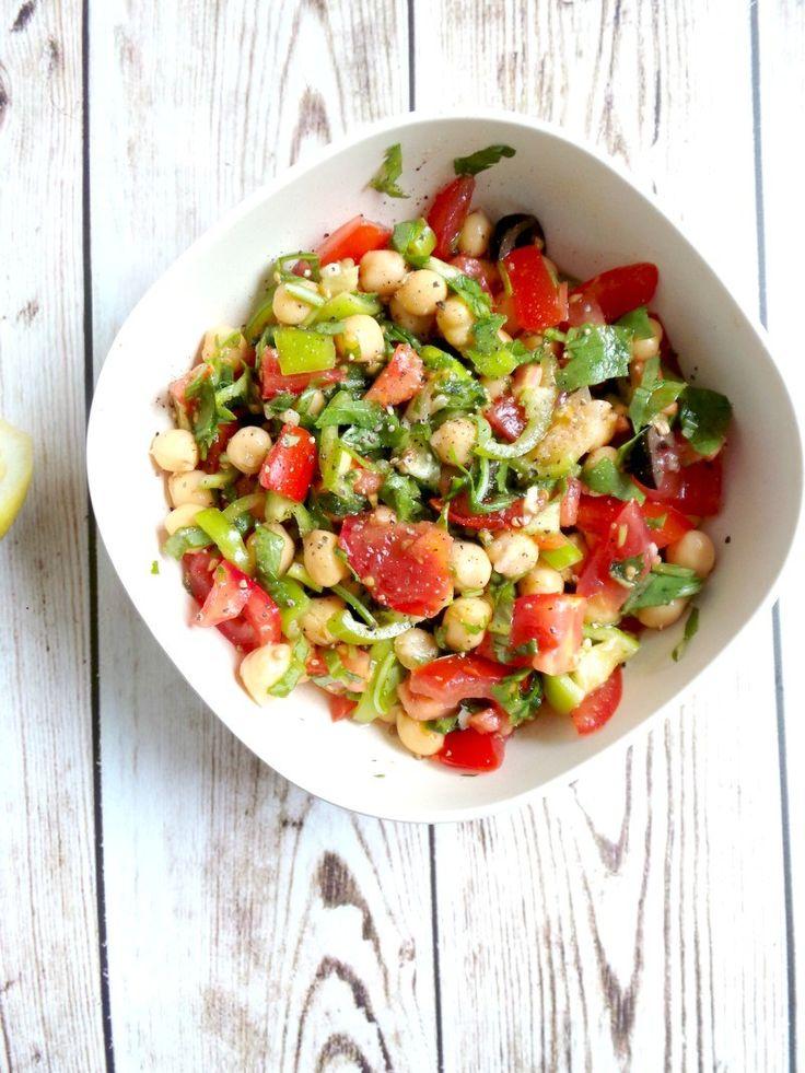 Tomato, Garlic and Chickpea Salad Recipe – Vegan, Gluten-Free – 800