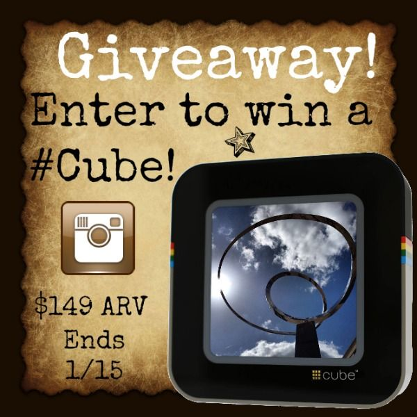 Enter to #win your own #Cube - it pulls photos straight from your Instagram feed and streams them wirelessly on its 8x8 screen! You can stream your entire feed, or narrow it down by user, hashtag, your likes, or popularity! $149 ARV. #Giveaway ends January 15 (11:59pm).