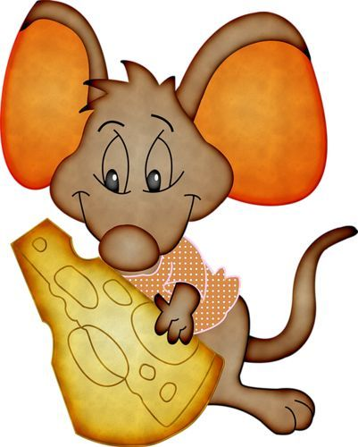 картинка мультяшной мышки с сыром сочетание визуально