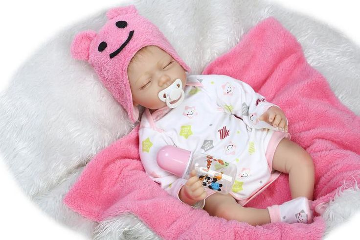 Silicone reborn baby doll toy soft body