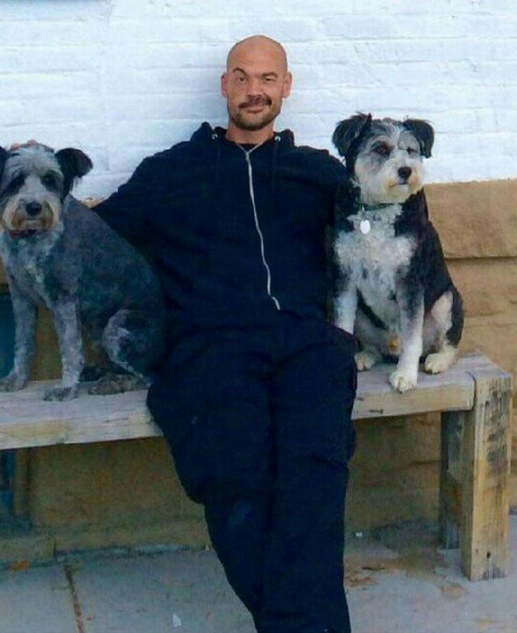 Aaron Goodwin and dogs, two of my favorite things! ❤️❤️❤️