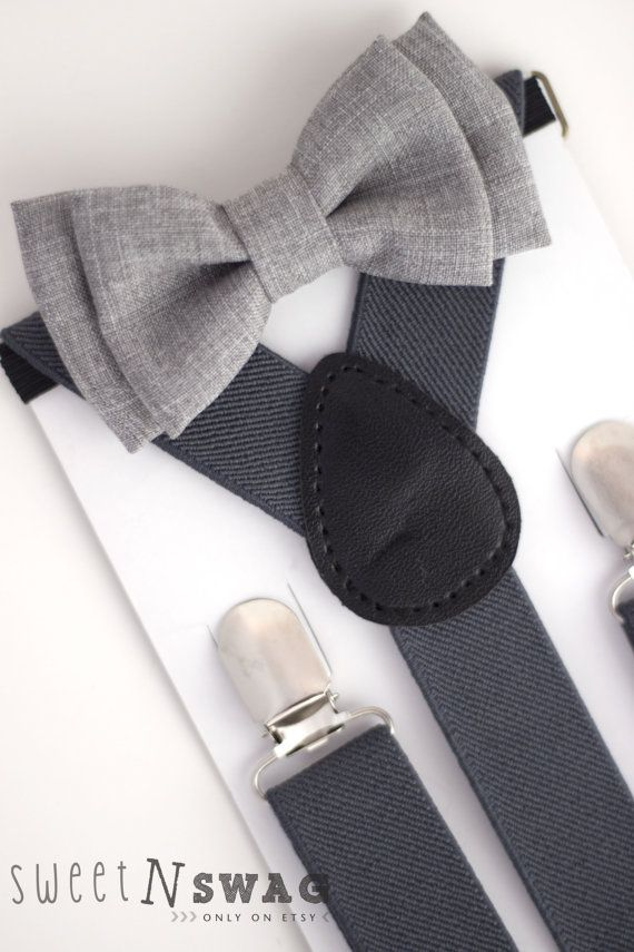SUSPENDER & BOWTIE SET. Newborn Adult sizes. Dark by SweetnSwag, $7.00 @Tanica Hesselgesser @Melina Glover @Suzanne Hutchison what do you ladies think about these for the boys?