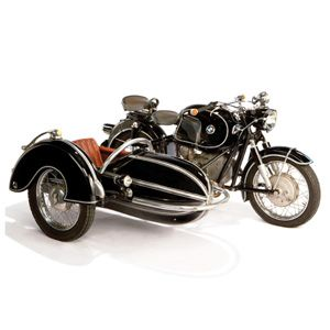 In 1956, ten years after BMW resumed motorcycle production, they released the R60, a low compression model that was favored by sidecar drivers.