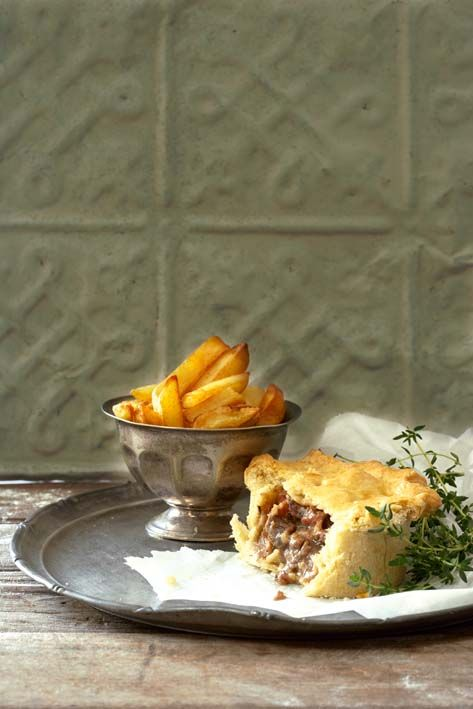 Steak, beer and bacon pies