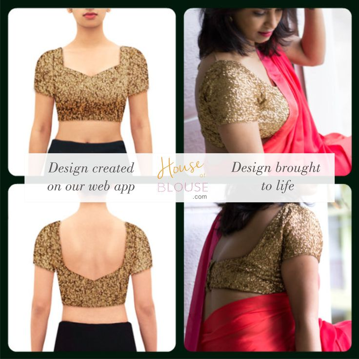 Very versatile and blinged out. A must have in your wardrobe. A gold sequin blouse. Design you own now on houseofblouse.com #saree #blouse #sareeblouse #blousedesigns #desi #indianfashion #india #sequin #sexyback