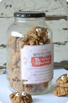 Monster Cookie Recipe with Free Label via Amy Huntley (The Idea Room) I think you could do this at anytime! How cute!