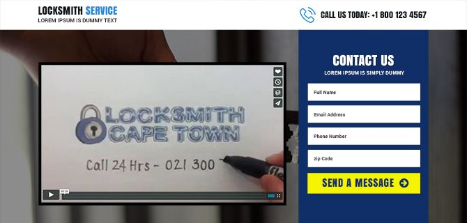 Purchase and download locksmith services lead generating landing page design online and create your presence online to get more clients and conversions. from http://buylandingpagesdesign.com