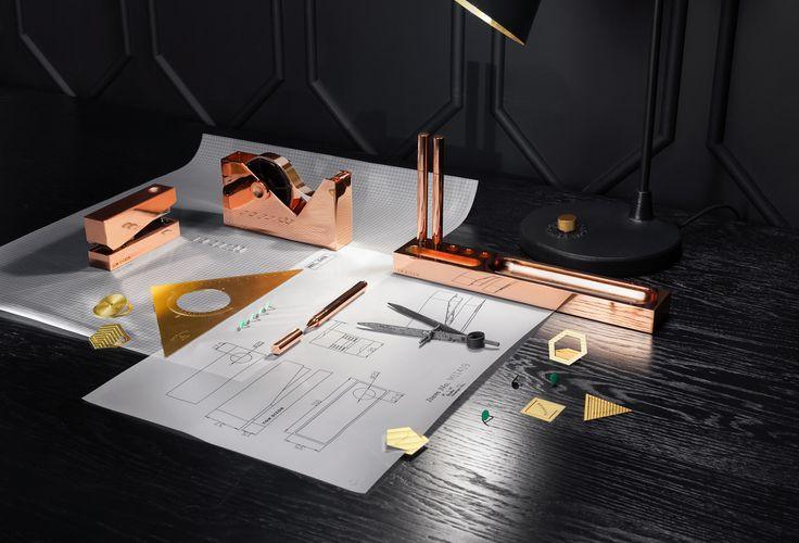 @tomdixonstudio 'Cube' desk accessories | design meets function