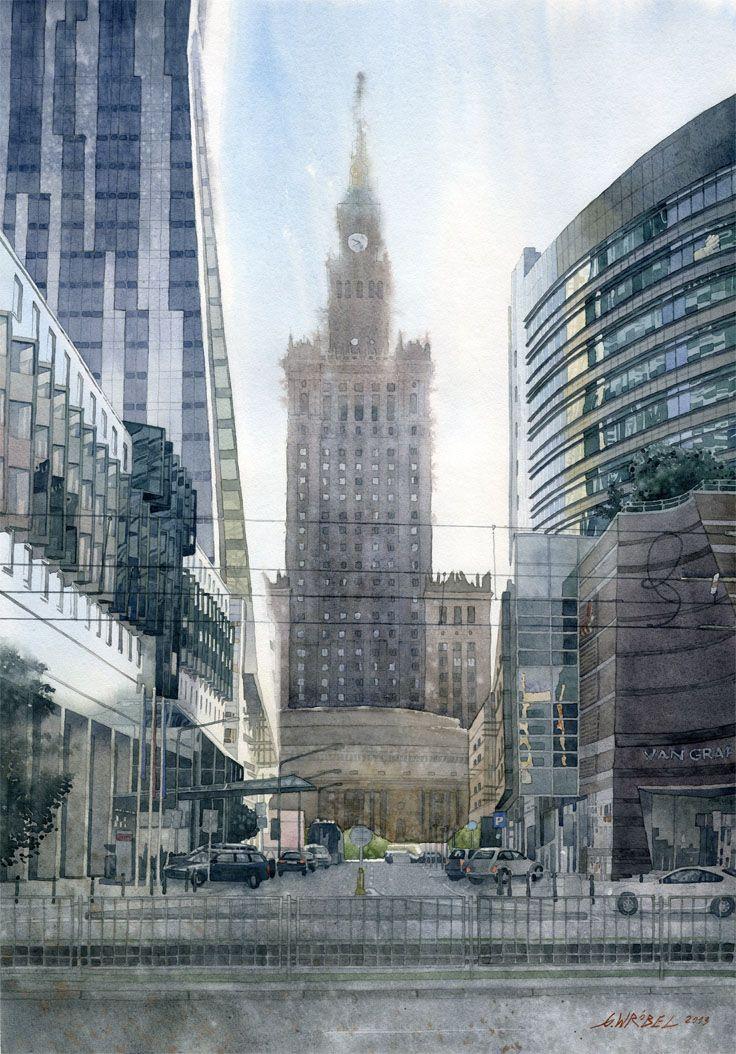 Four faces of Warsaw by GreeGW.deviantart.com on @deviantART