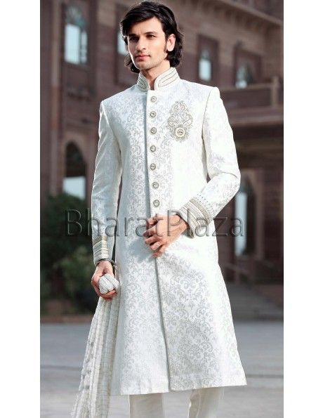 White Sherwani! I like it!