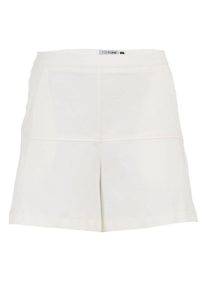 Panelled Shorts White