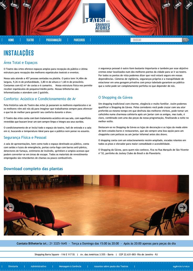 página Instalações