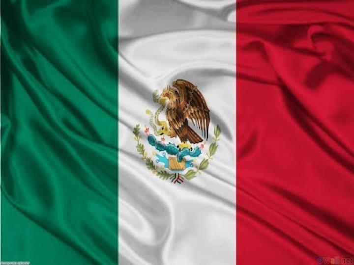 La actual Bandera de México está segmentada en tres partes iguales cada una de un color distinto. El verde que significa la esperanza, el blanco la unidad y el rojo la sangre de los Héroes Nacionales. El en escudo se encuentra un águila devorando una serpiente. su día se celebra el 24 de febrero ✿⊱╮