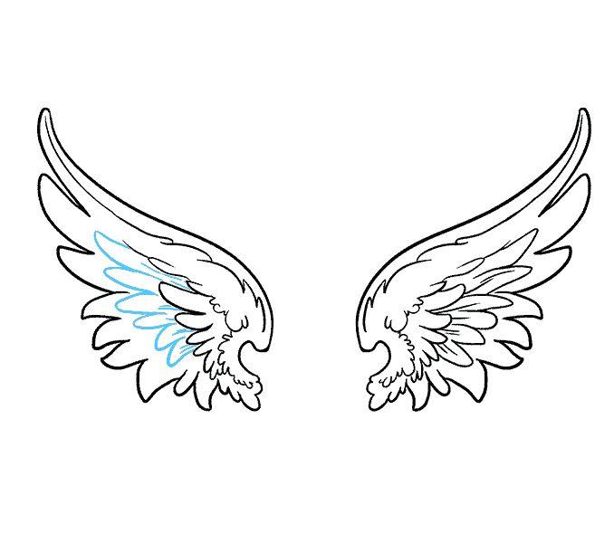 Женщине, крылья ангела картинки рисованные