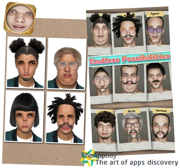 [ It's Free today. The most interesting ] Face morphing done right!  Ugly Face Booth (usual price – 0,99 $)  Choose between 30 different Ugly Characters and transform yourself, your friends, your family, and celebrity photos Ugly with the touch of a button! Add hairstyles and accessories to your ugly character for endless ridiculousness!  App Store: https://itunes.apple.com/en/app/id634075339