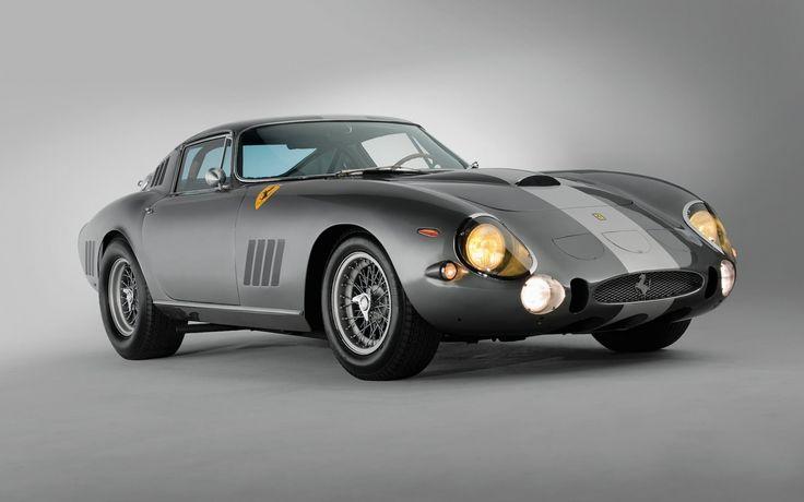 Ferrari 275 GTB, 1964 italiano carros clássicos, carros antigos, prata, carro de desporto, Ferrari