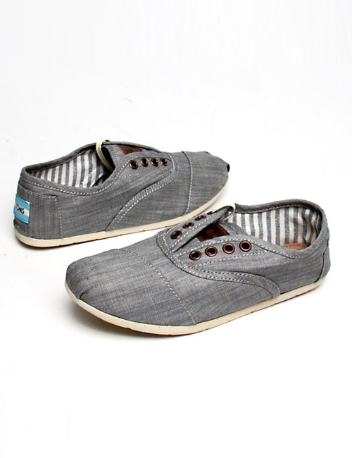 Toms shoes Cordones Chambray grey