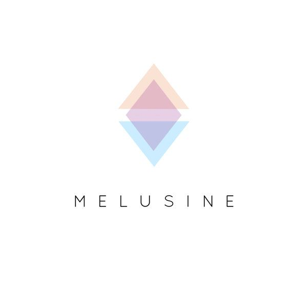 Triangle Logo. Pre-made - modern I minimalist I diamond I purple, blue, pink
