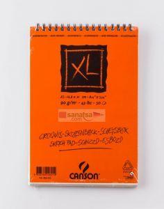 Canson XL Croquis Krem Eskiz Defteri Üstten Spiralli A5 50 Sayfa
