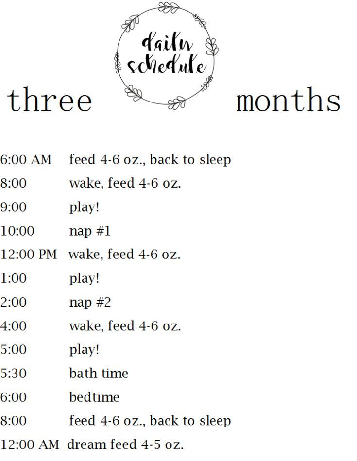 Daily Schedule For Baby 3 Months Dosmommas Baby Routine Baby Month By Month Baby Schedule