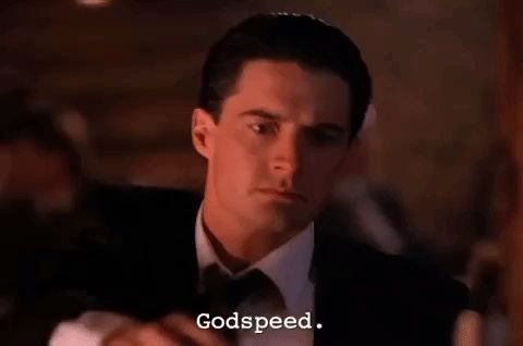 New party member! Tags: season 1 twin peaks showtime episode 4 twinpeaks dale cooper good luck agent cooper godspeed