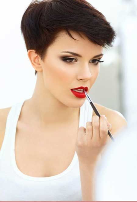 Vintage Short Pixie Hairstyle…
